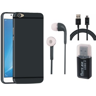 Samsung C9 Pro Back Cover with Memory Card Reader, Earphones and USB Cable