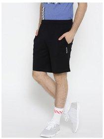 Reebok Men's Black Polyester  Shorts