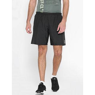 Reebok Mens Polyester Black Workout Sports Shorts