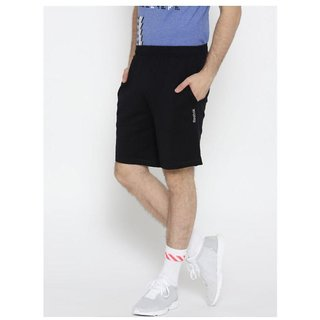 Reebok Men's Black Polyester  Shorts