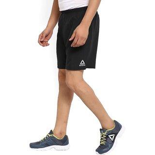 Reebok Mens Black Polyester Lycra Shorts
