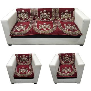 LooMantha 5 seater Cotton Sofa cover (Exclusive Design, Pack of 6)5.7