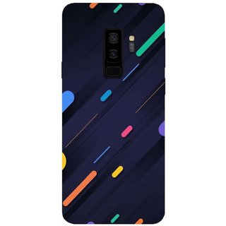Back Cover For Samsung Galaxy S9 Plus (Multicolor, Dual Protection, Flexible Case) by Rising Rays
