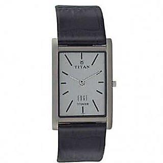 Titan Quartz White Dial Mens Watch-1043tl02