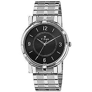 Titan Quartz Black Dial Mens Watch-1639SM03