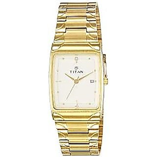 Titan Quartz White Dial Mens Watch-19372937YM01
