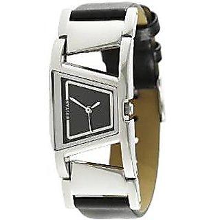 Titan Quartz Black Dial Women Watch-2486SL03
