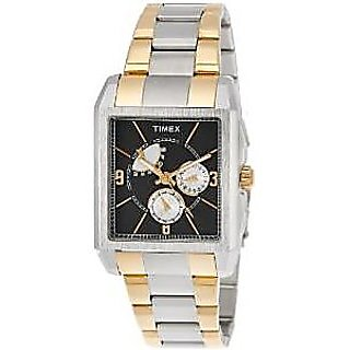 Timex Quartz Black Dial Mens Watch-J302