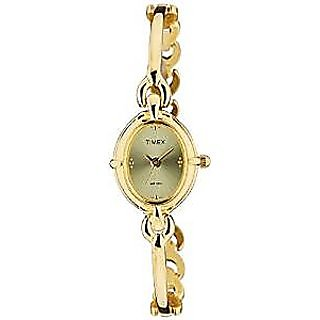 Timex Quartz Gold Dial Women Watch-LK02