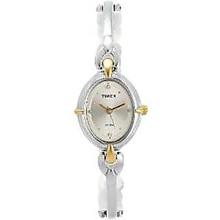 Timex Quartz Silver Dial Women Watch-LK21