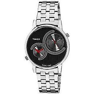 Timex Quartz Black Dial Mens Watch-TI000K20900