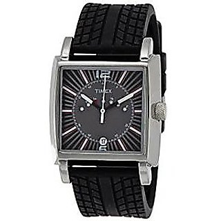 Timex Quartz Black Dial Mens Watch-TI000V20100