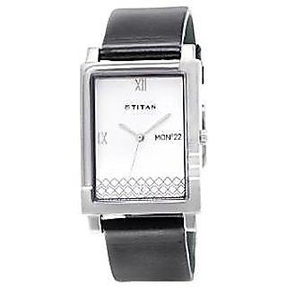 Titan Quartz White Dial Mens Watch-1508SL01