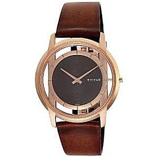 Titan Quartz Brown Dial Mens Watch-1577WL01
