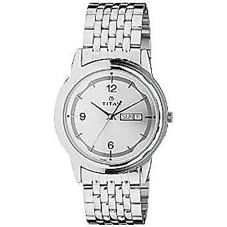Titan Quartz Silver Dial Mens Watch-1638SM01
