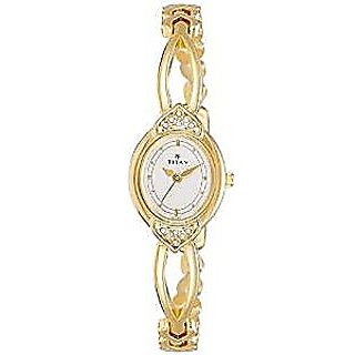 Titan Quartz White Dial Women Watch-2468YM04