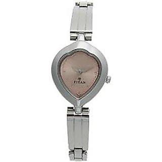Titan Quartz White Dial Women Watch-2475SM03