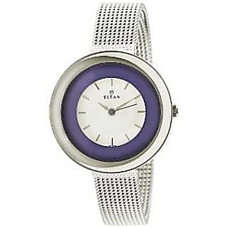 Titan Quartz White Dial Women Watch-2482SM01