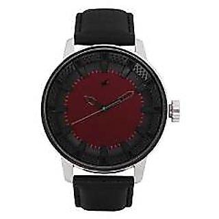 Fastrack Quartz Red Dial Mens Watch-3137SL01