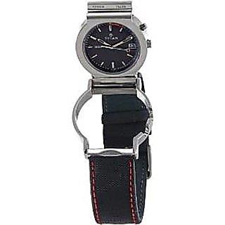 Titan Quartz Black Dial Mens Watch-1189SL02