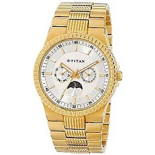 Titan Quartz Silver Dial Mens Watch-1532YM01