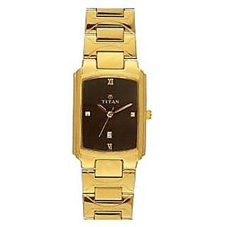 Titan Quartz Brown Dial Mens Watch-1955YM03