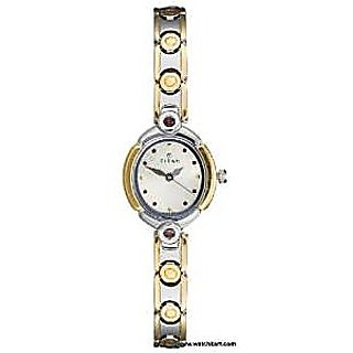 Titan Quartz Beige Dial Women Watch-2467BM02