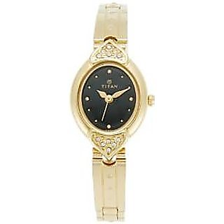 Titan Quartz Black Dial Women Watch-2468YM03