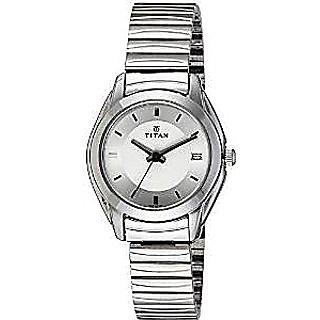 Titan Quartz White Dial Women Watch-2489SM03