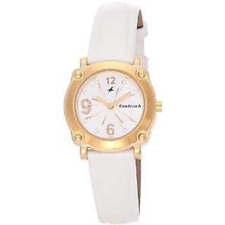 Fastrack Quartz White Dial Women Watch-6027YL01