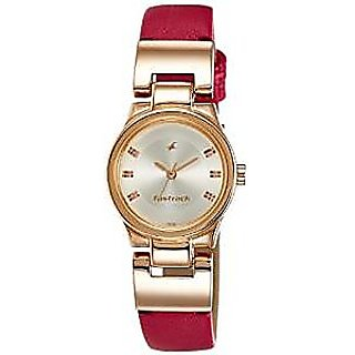 Fastrack Quartz Red Dial Women Watch-6114WL01