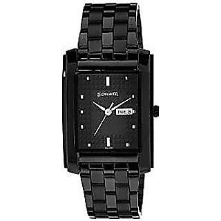 Sonata Quartz Black Dial Mens Watch-7953NM02