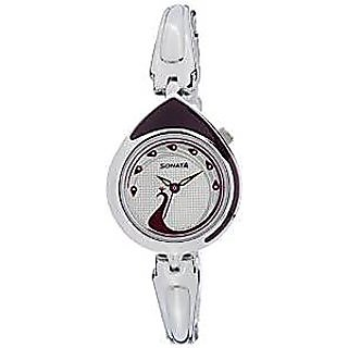 Sonata Quartz Multi Dial Women Watch-8119SM02