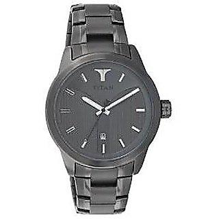 Titan Quartz Grey Dial Mens Watch-9443QM01