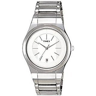 Timex Quartz Silver Dial Mens Watch-TI000M80000