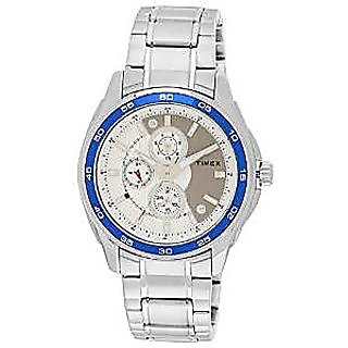 Timex Quartz Silver Dial Mens Watch-ti000t80000