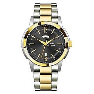Timex Quartz Black Dial Mens Watch-TI000U30300