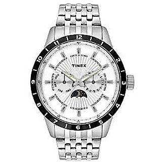 Timex Quartz White Dial Mens Watch-TWEG14704