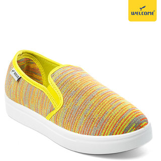 Welcome RCL-03 Yellow Casual Shoes