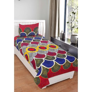 3D Polycotton  Single Bedsheet With 1 Pillow Cover