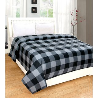 Yogini Double  Bed Walmart AC Blanket Black And White Color
