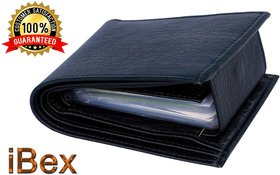 ibex Men Black Artificial Leather Wallet