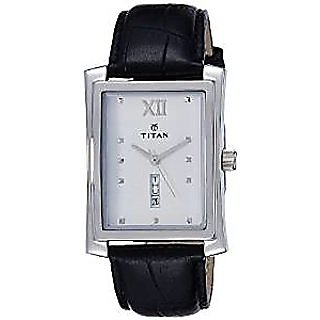 Titan Quartz White Dial Mens Watch-90023SL01