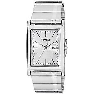 Timex Quartz Silver Dial Mens Watch-L505