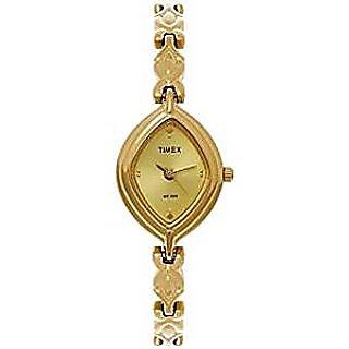 Timex Quartz Gold Dial Women Watch-LS02