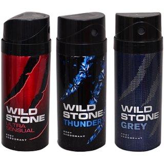 Wild Stone Deo Deodorants Body spray For Men - Pack of 3