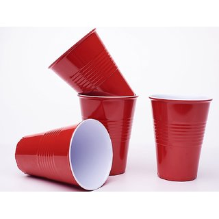 Smartcraft Red Party Cups 500ml - Pack of 50 Beer Party Cups Beer Pong Cups (Pack of 50)