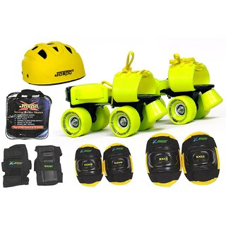 Jaspo Power Pack Pro Senior Skates Combo (skates+helmet+knee+elbow+wrist+bag)suitable for age 6 to 14 years