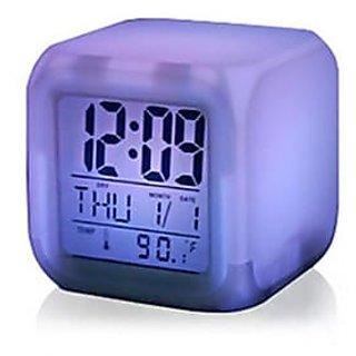 Color Change Digital Alarm Clock (Pack of 1)