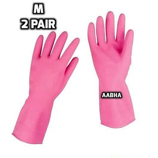 Waterproof Cleaning Household Gloves for Kitchen, Dish Washing, Laundry, Perfect For Garden and Household Task,Size M